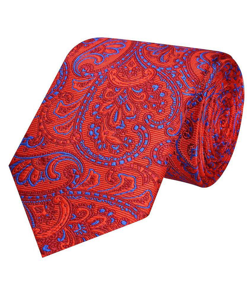 Tiekart Orange Floral Polyester Necktie