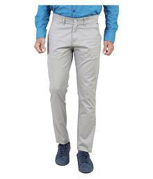 Pepe Jeans Grey Slim -Fit Flat Chinos