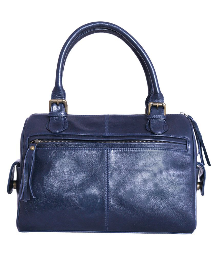 Craft Play Navy Blue Faux Leather Handheld