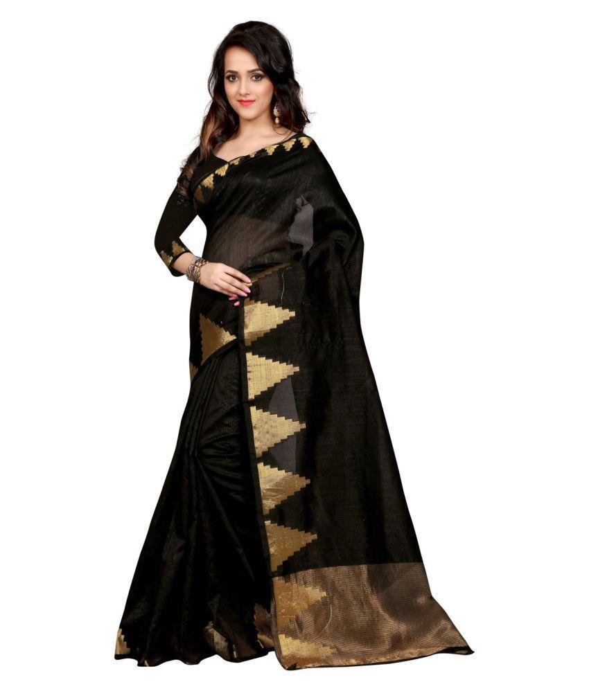 Fashion Founder Black Banarasi Silk Saree