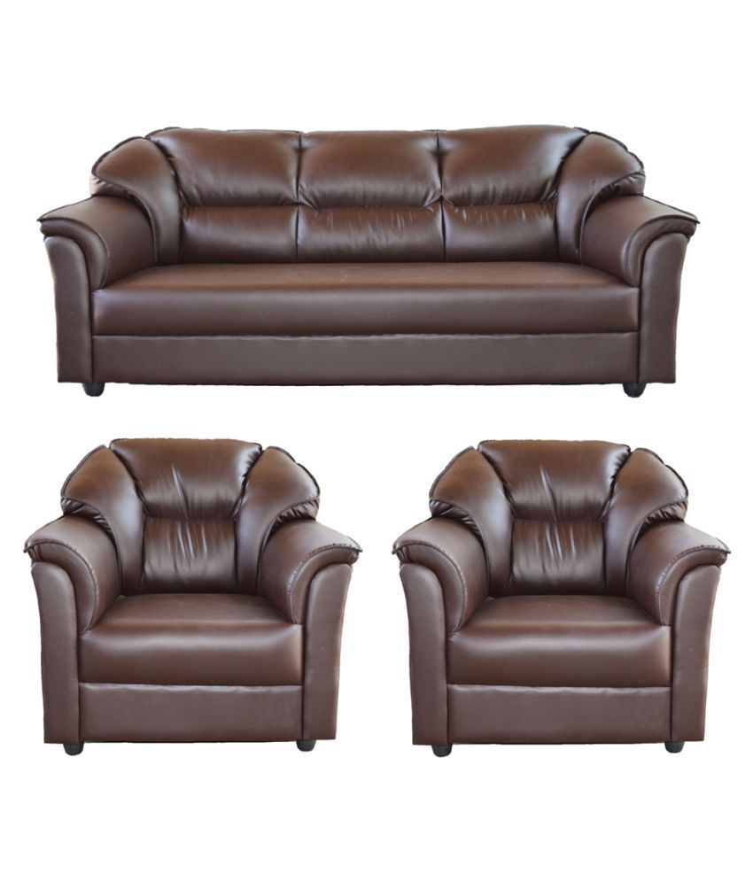 Gioteak Manhattan Brown 5 Seater Sofa Set 3+1+1
