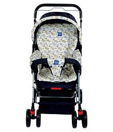 Mee Mee Comfortable Pram with 3 Seating Positions (Cream)