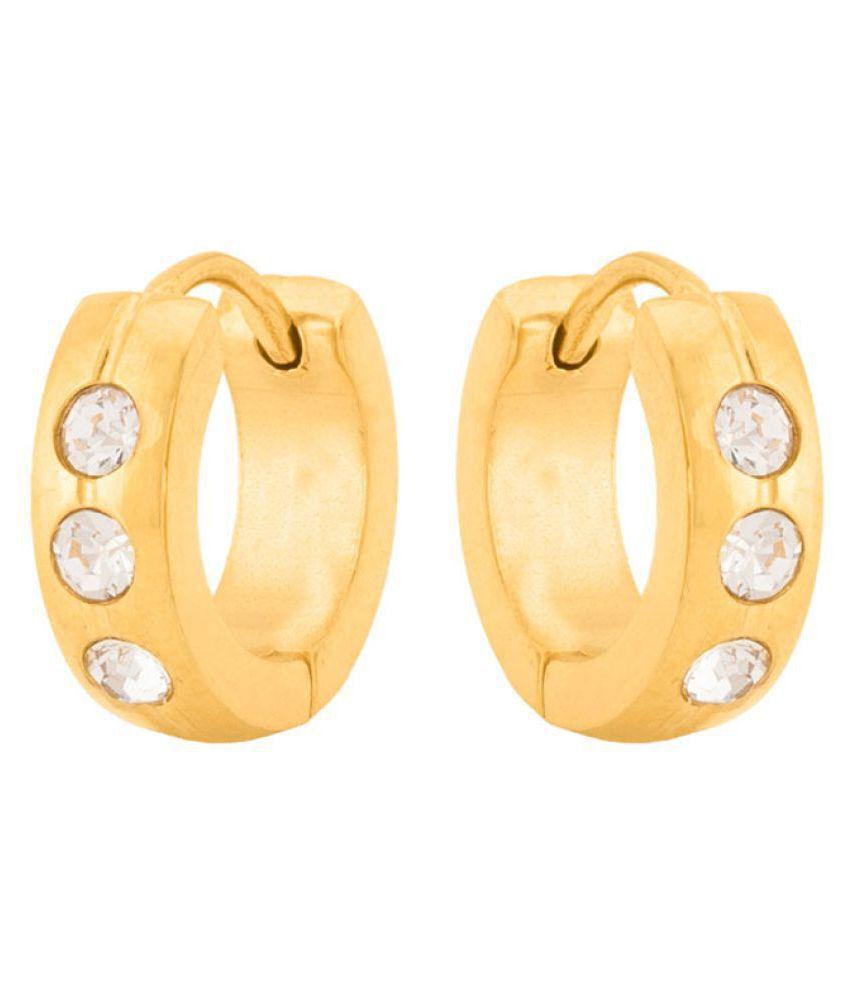 Voylla CZ Embellished Hoop Style Earrings