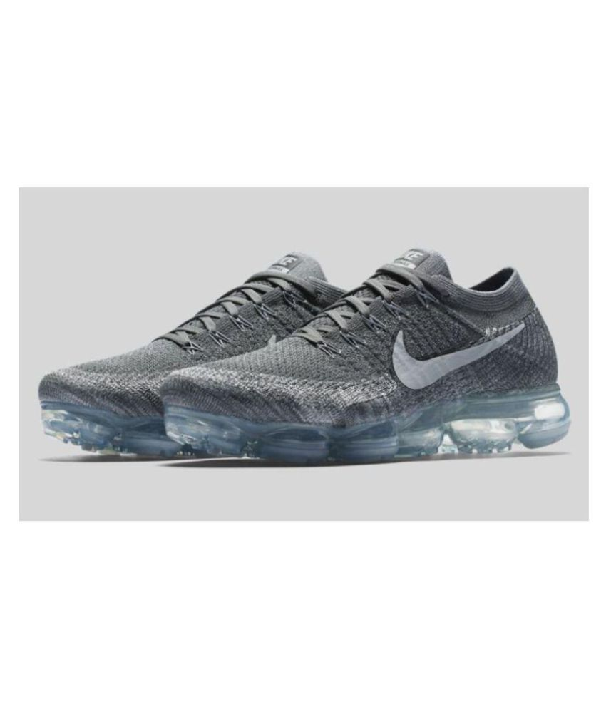 9f38c8804b7 Nike Vapormax 2018 Gray Running Shoes - Buy Nike Vapormax 2018 Gray Running  Shoes Online at Best Prices in India on Snapdeal