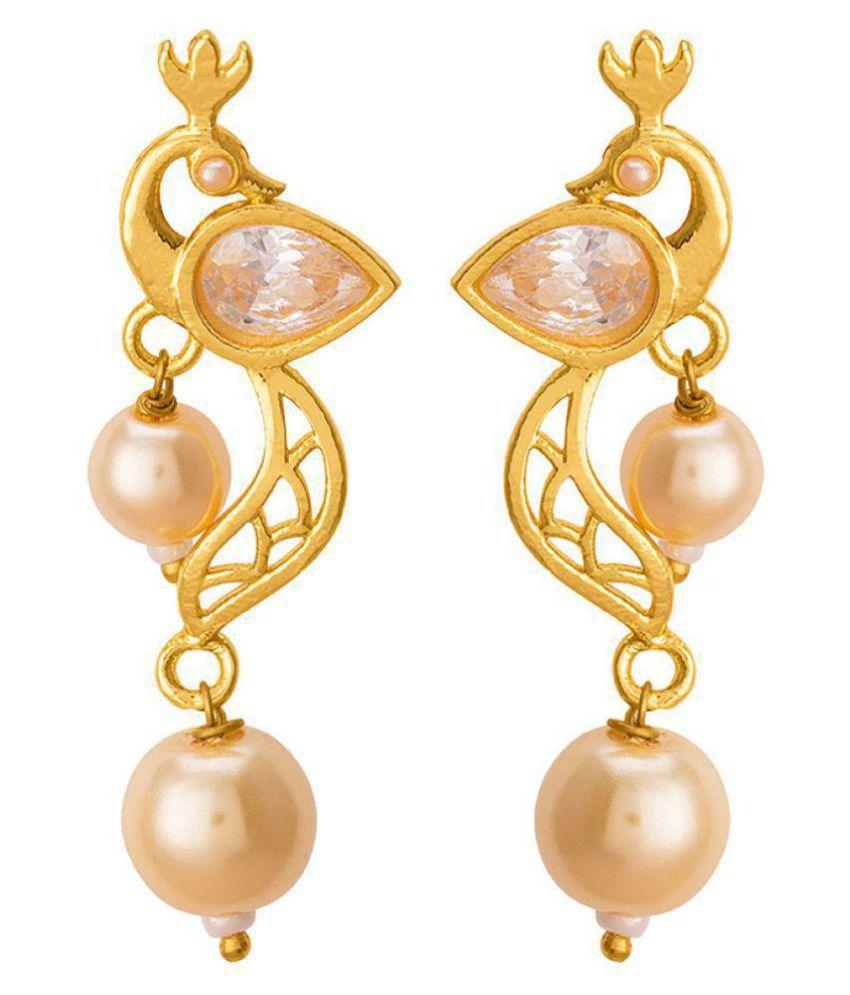 Voylla Elegant Earrings with Pearl Drops