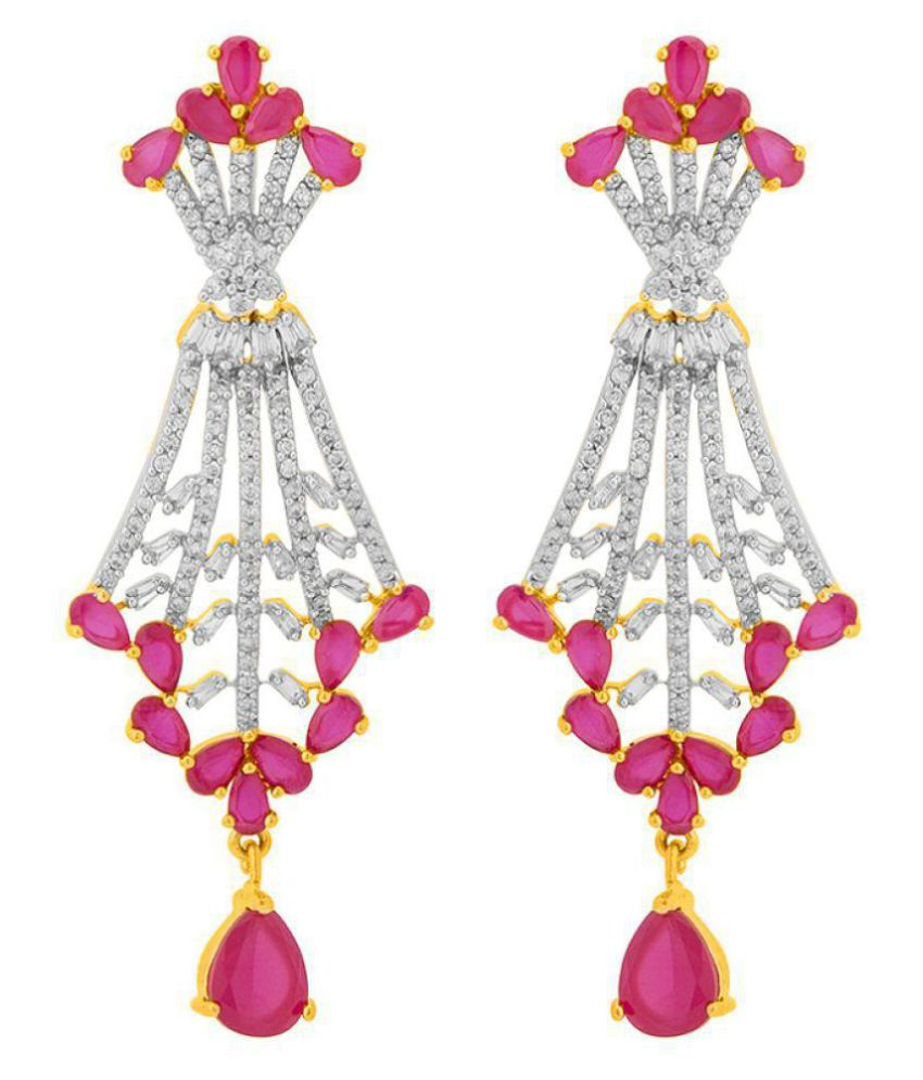 Voylla Lovely Drop Earrings with Gold Plating