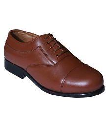 Bata Oxford Genuine Leather Tan Formal Shoes