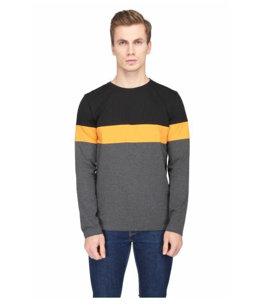 Be-Beu Black Round T-Shirt Pack of 1
