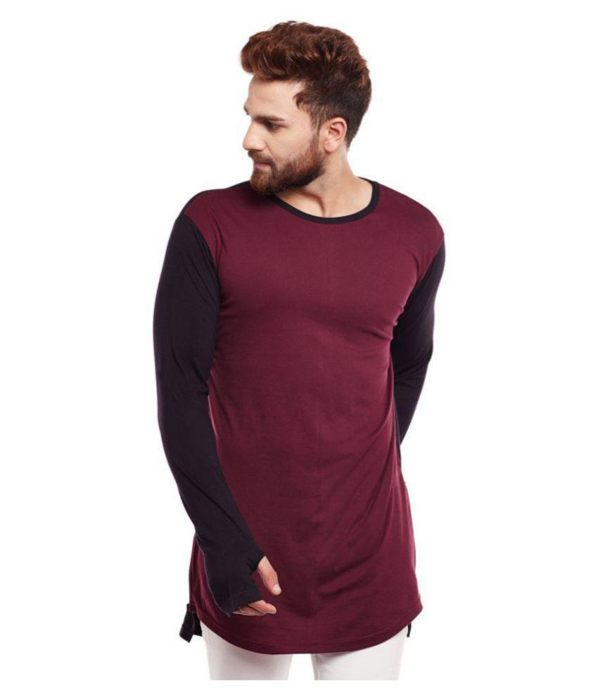 Hypernation Maroon Round T-Shirt Pack of 1
