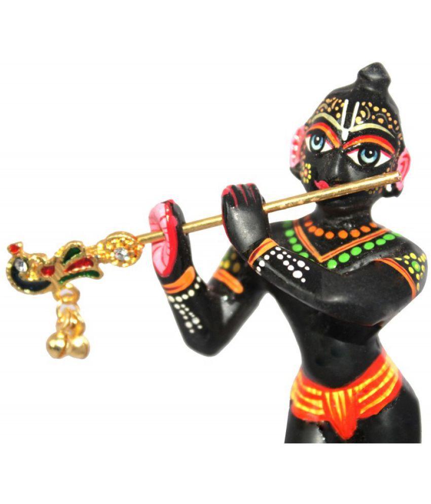 Indian Cart Villa Krishna Brass Idol