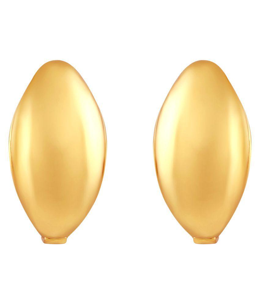 Asmitta Exquisite Kaju Shape Bali Hoop Gold Plated Earring For Women