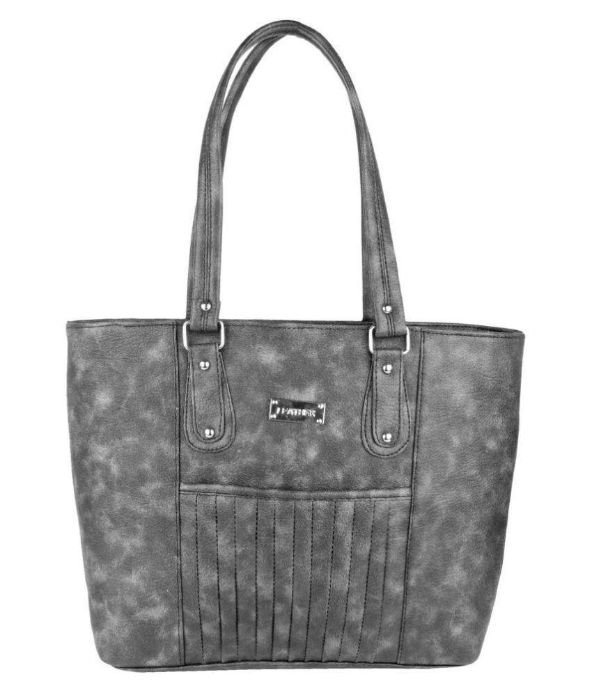 eklavya Black P.U. Shoulder Bag