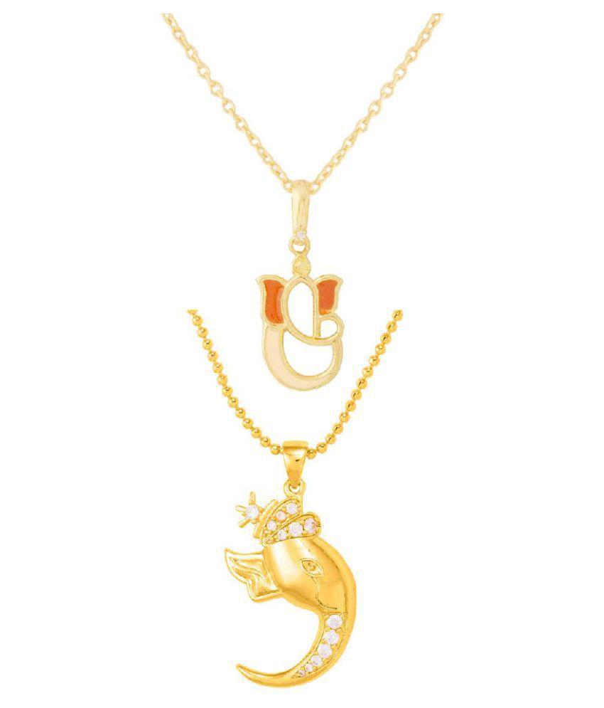 Voylla Divine Combo of Lord Ganesha Pendants