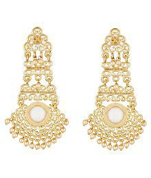 Elakshi Artistically Crafted Pink Stone Gold Plated Women Earrrings (SC_1037_ER)