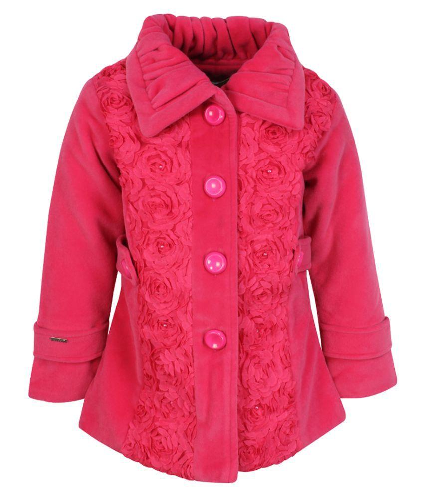 Cutecumber Girls Partywear Coat Fabric Winter Jacket