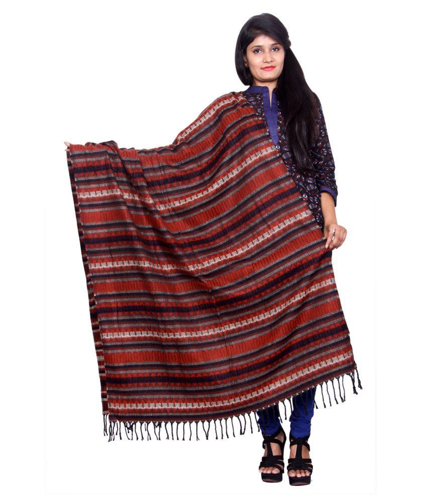 Rama Red Stripes Shawl