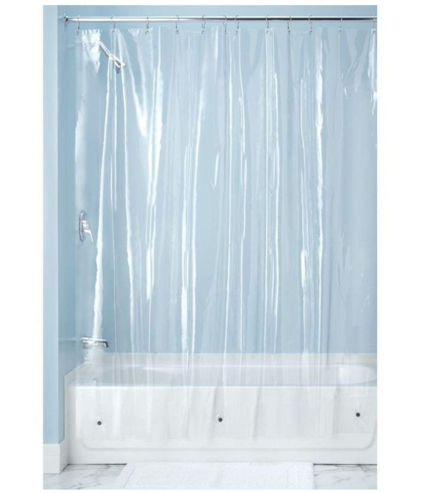 Khushi Creations Single Shower Curtain White Others