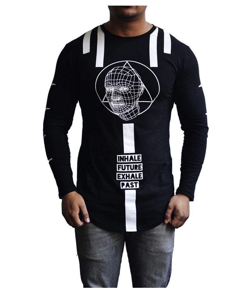 Selenas Black Round T-Shirt Pack of 1