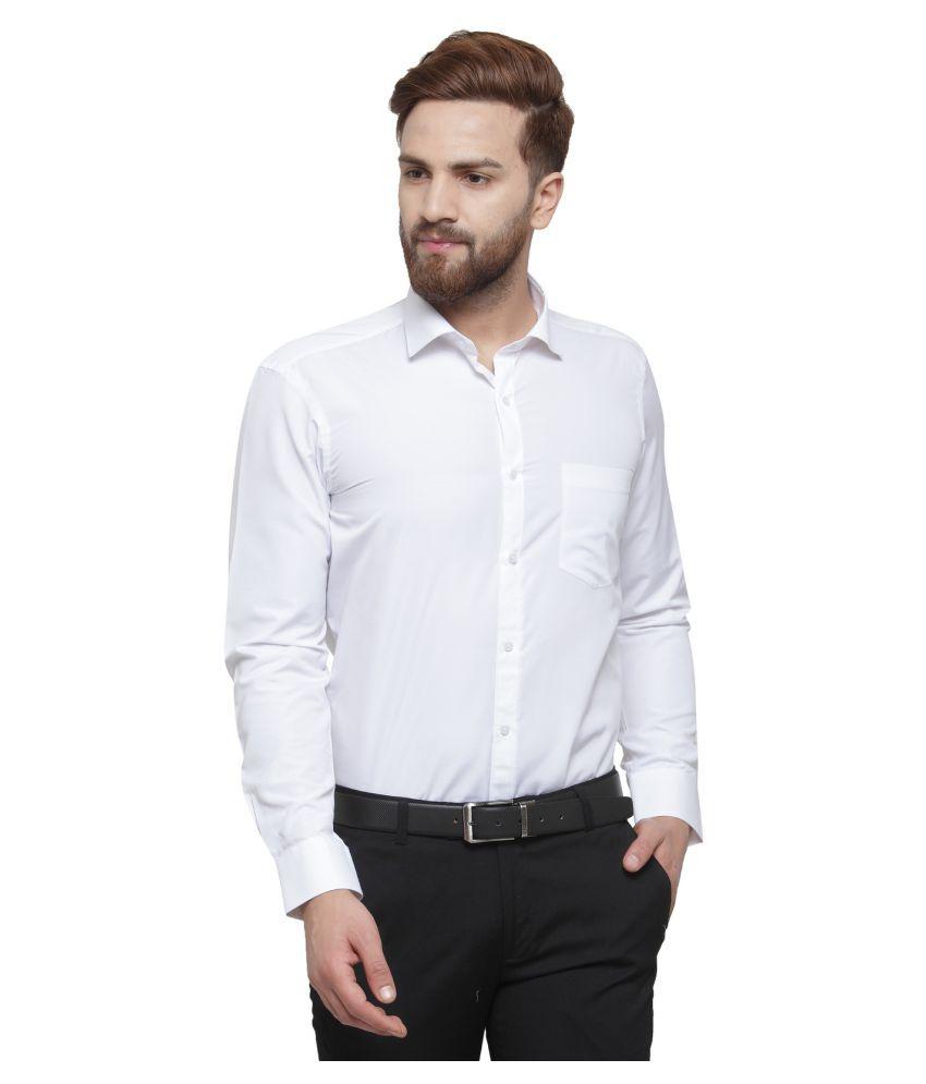 RG Designers White Slim Fit Formal Shirt
