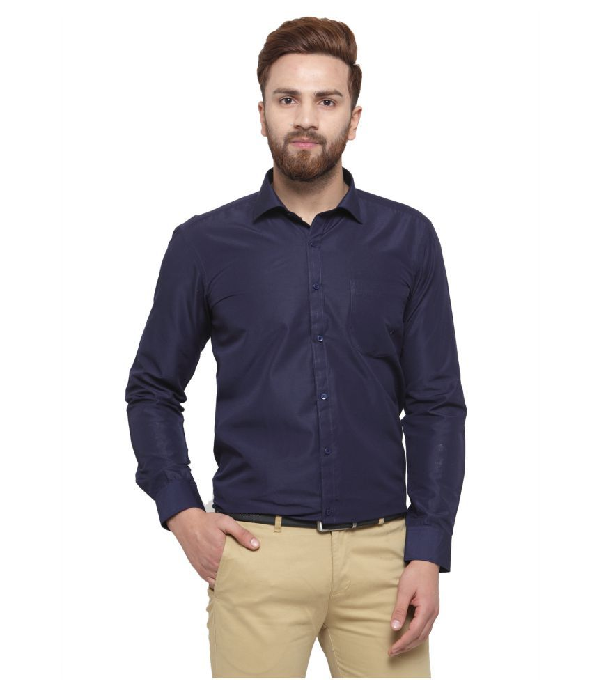 RG Designers Blue Slim Fit Formal Shirt
