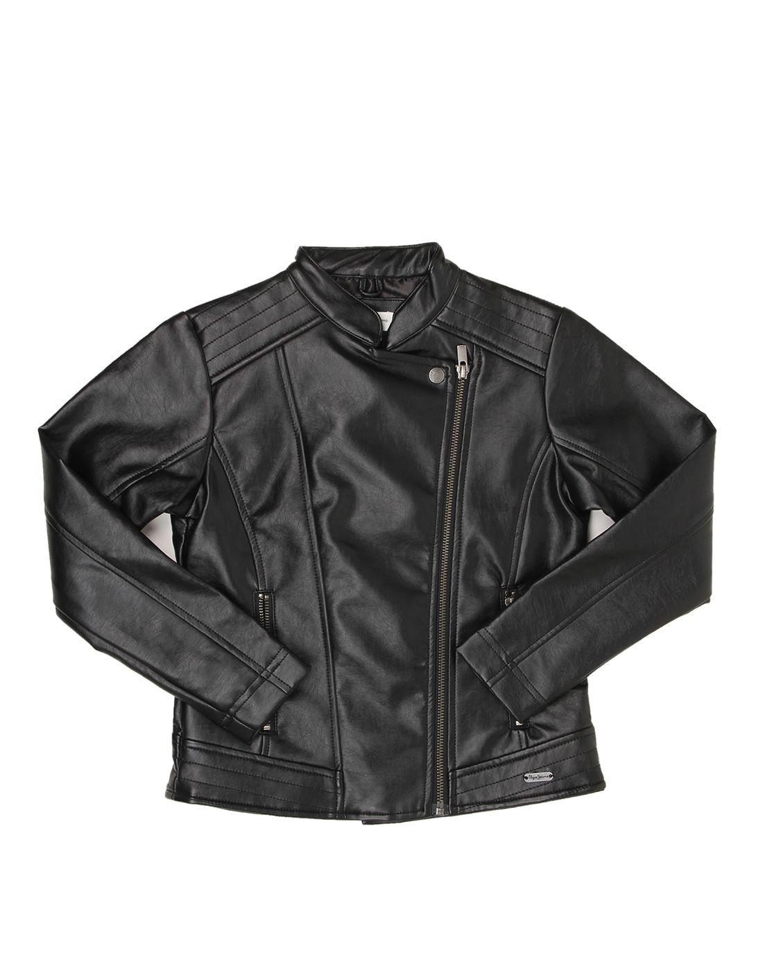 Pepe Jeans Girls Full Sleeve Casual Black Jacket