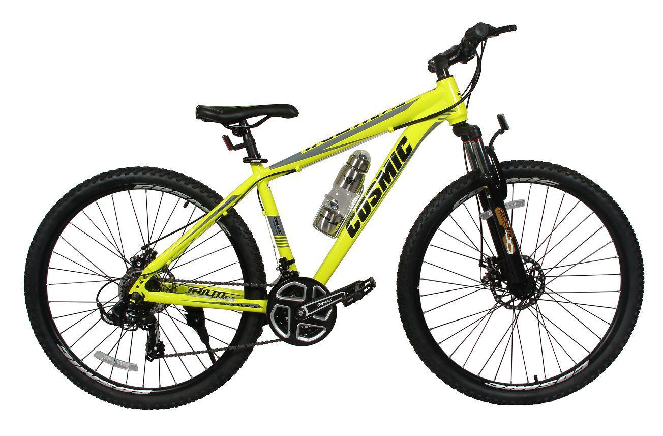 a007ab2415a ... Cosmic Trium 27.5 Inch MTB 21 Gears Yellow 69.85 cm(27.5) Hybrid bike  Bicycle ...