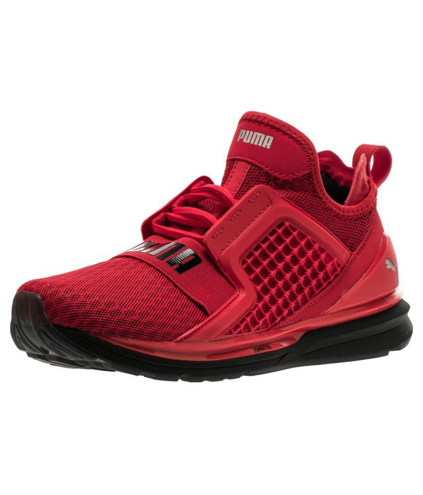 online store fd5f1 b358b Puma Ignite Limitless Red Running Shoes