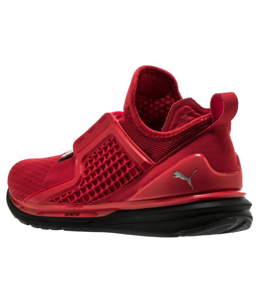 online store bc039 98563 Puma Ignite Limitless Red Running Shoes