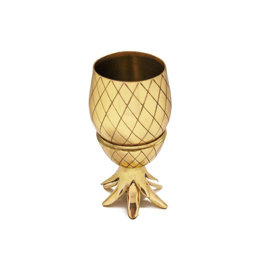Brass Pineapple Mug, Pineapple Cocktail Mug with Straw