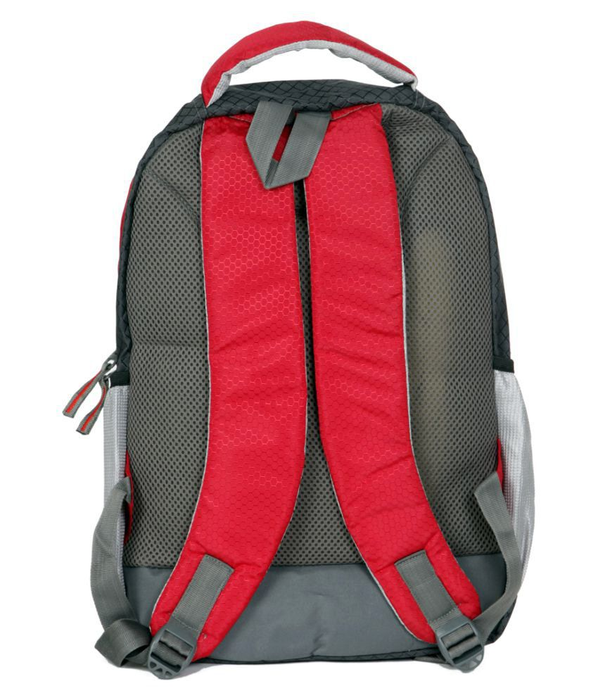 ... Nike Branded Backpack Laptop Bag college bag school bag Red Grey 35  Litres ... 433a2741279b9
