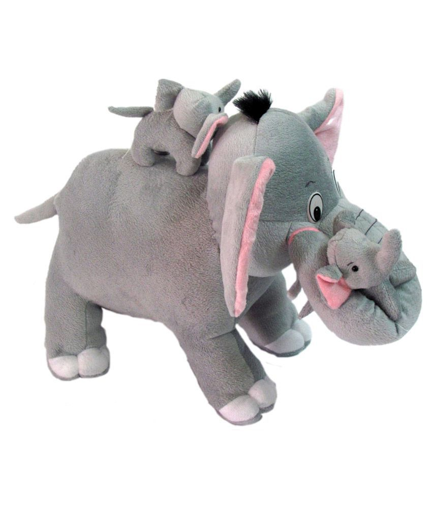 Tickles Mother Elephant With 2 Babies Soft Toy 38 Cm Buy Tickles