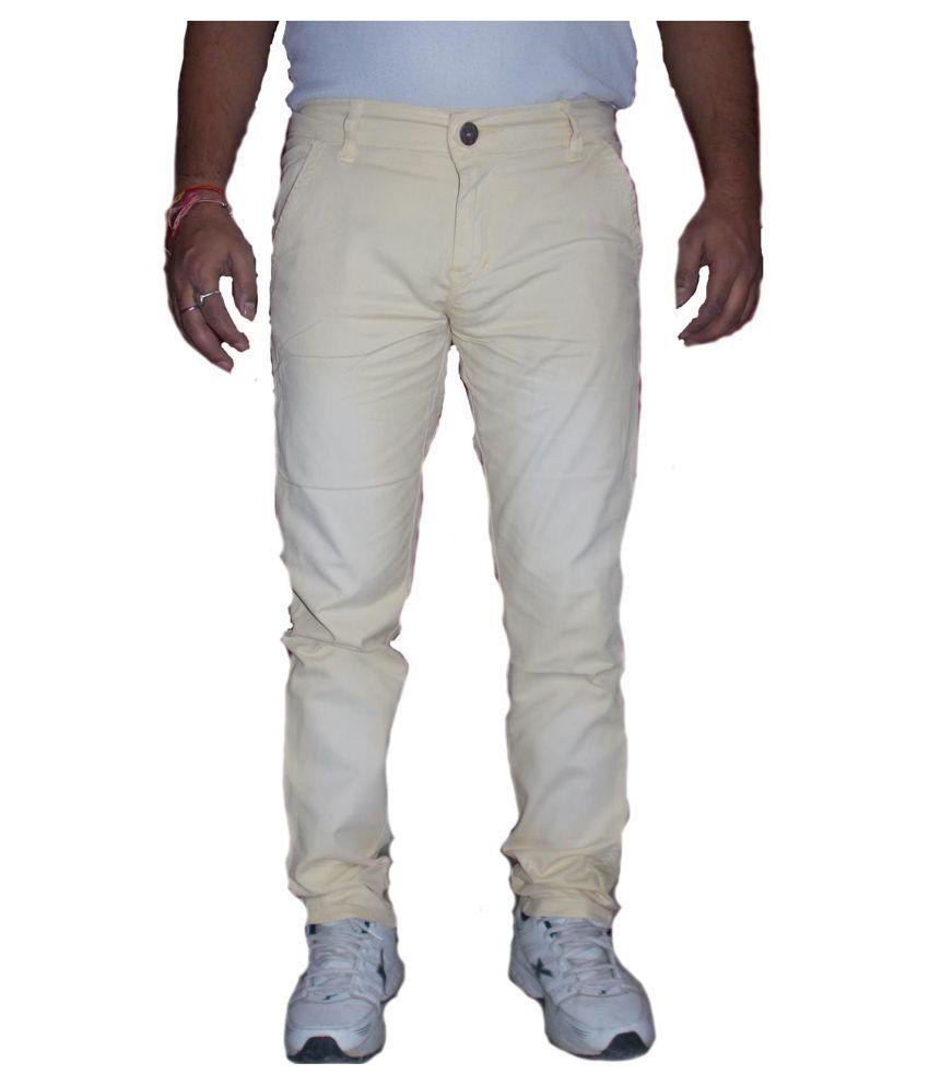 zimboo Yellow Regular Fit Jeans