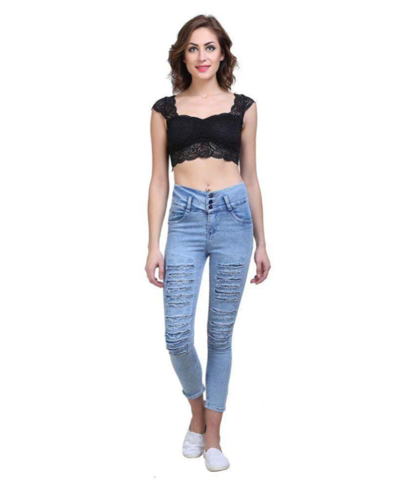 Essence Poly Cotton Jeans - Blue