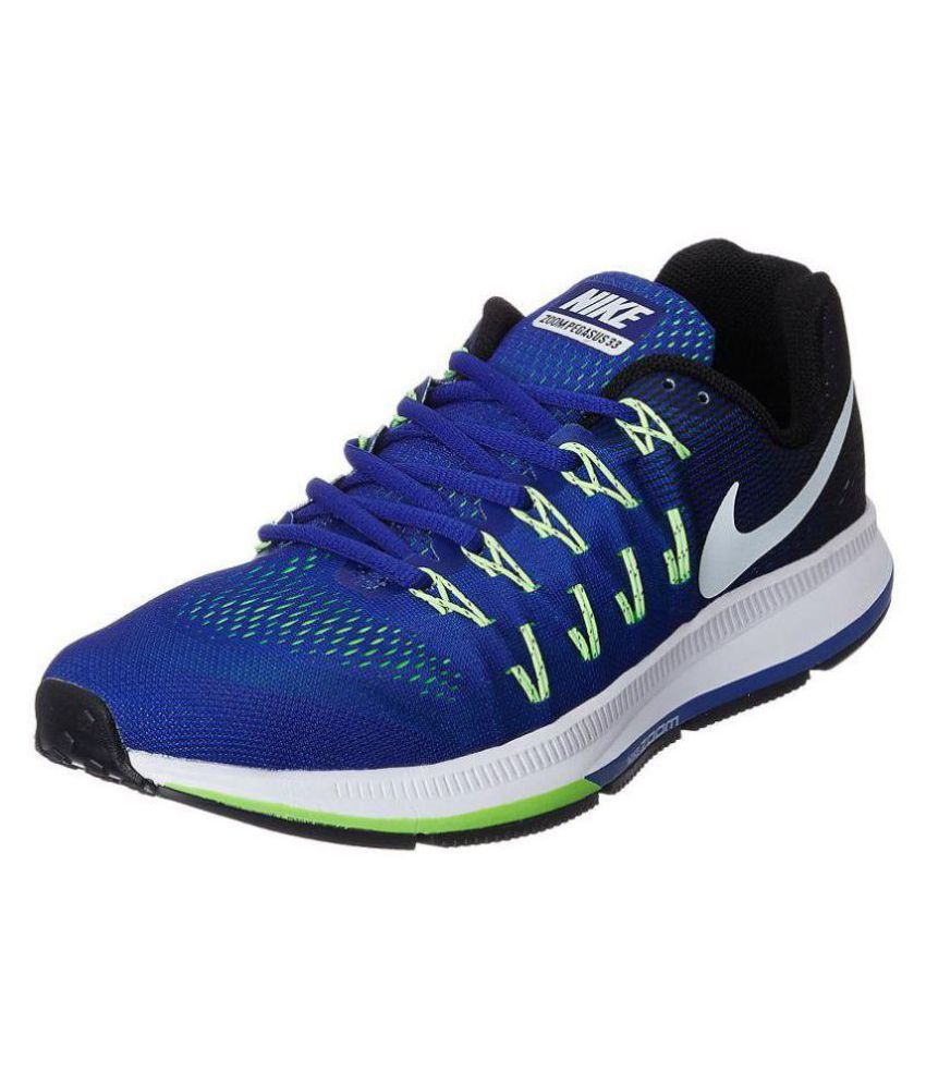 9cafb0403a7ba0 Nike Zoom Pegasus 33 Blue Running Shoes - Buy Nike Zoom Pegasus 33 Blue Running  Shoes Online at Best Prices in India on Snapdeal