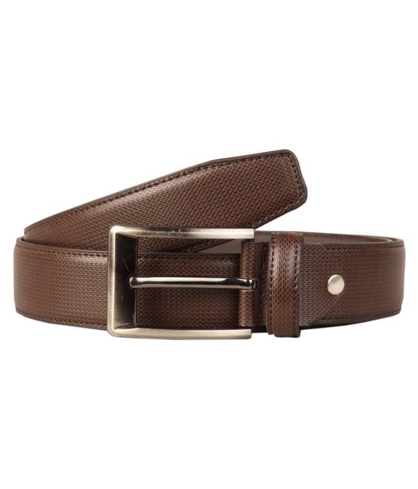 Scharf Brown PU Formal Belts