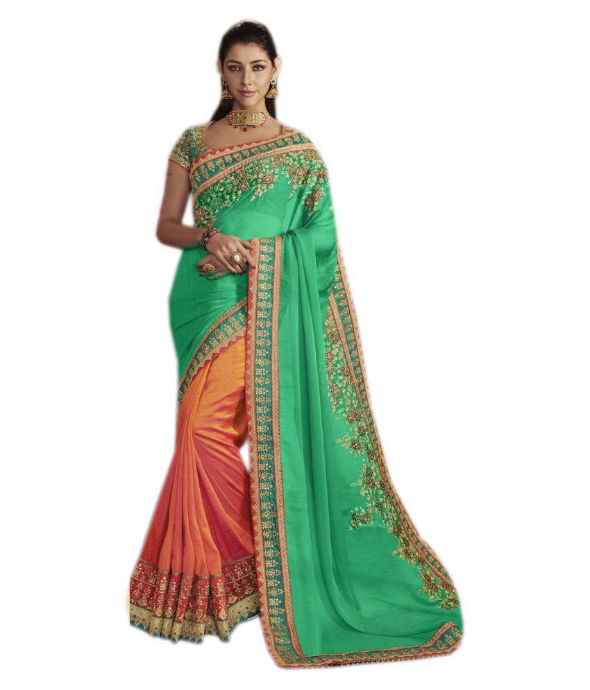 Fashion Founder Green Banarasi Silk Saree