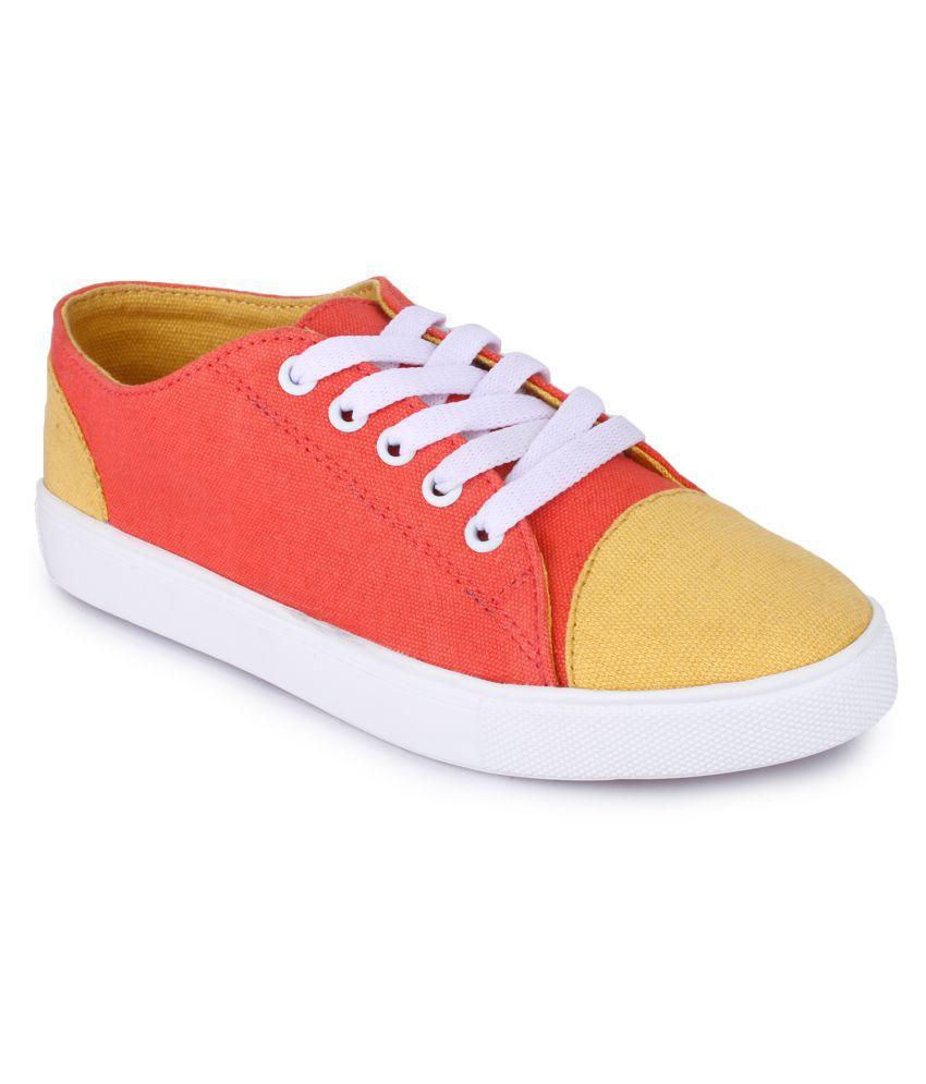 Funku Fashion Orange Casual Shoes