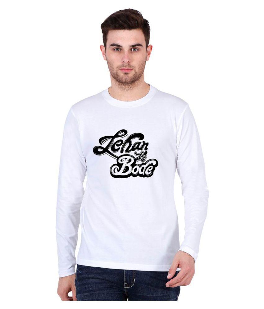 Be Awara White Round T-Shirt Pack of 1