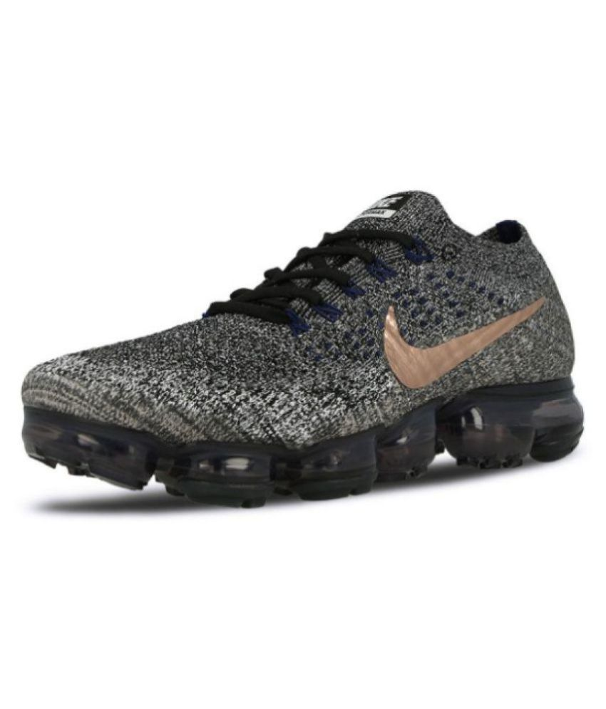 1ec73967c620 Nike AIR VAPORMAX FLYKNIT Gray Running Shoes - Buy Nike AIR VAPORMAX FLYKNIT  Gray Running Shoes Online at Best Prices in India on Snapdeal