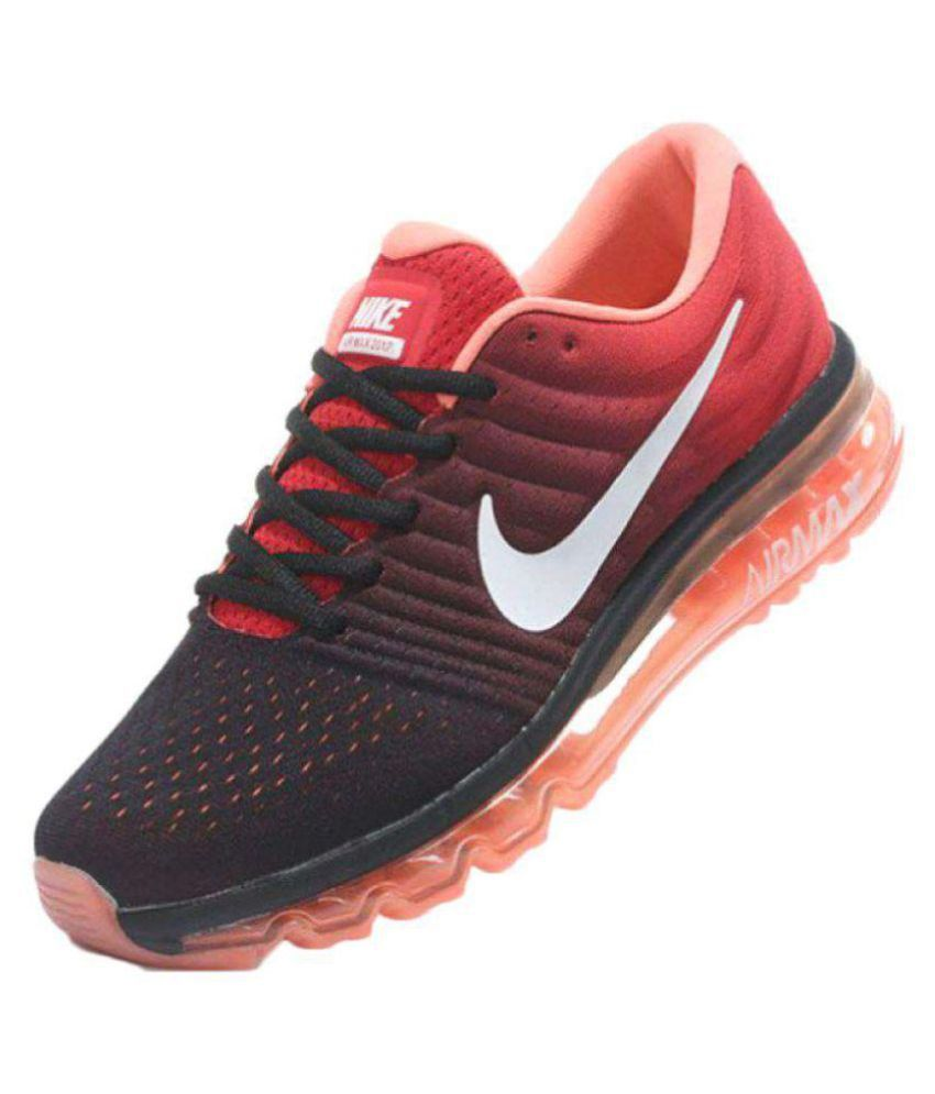 first rate 10f0c 3392b Nike AIRMAX 2017 ALL COLOUR Orange Running Shoes - Buy Nike AIRMAX 2017 ALL  COLOUR Orange Running Shoes Online at Best Prices in India on Snapdeal