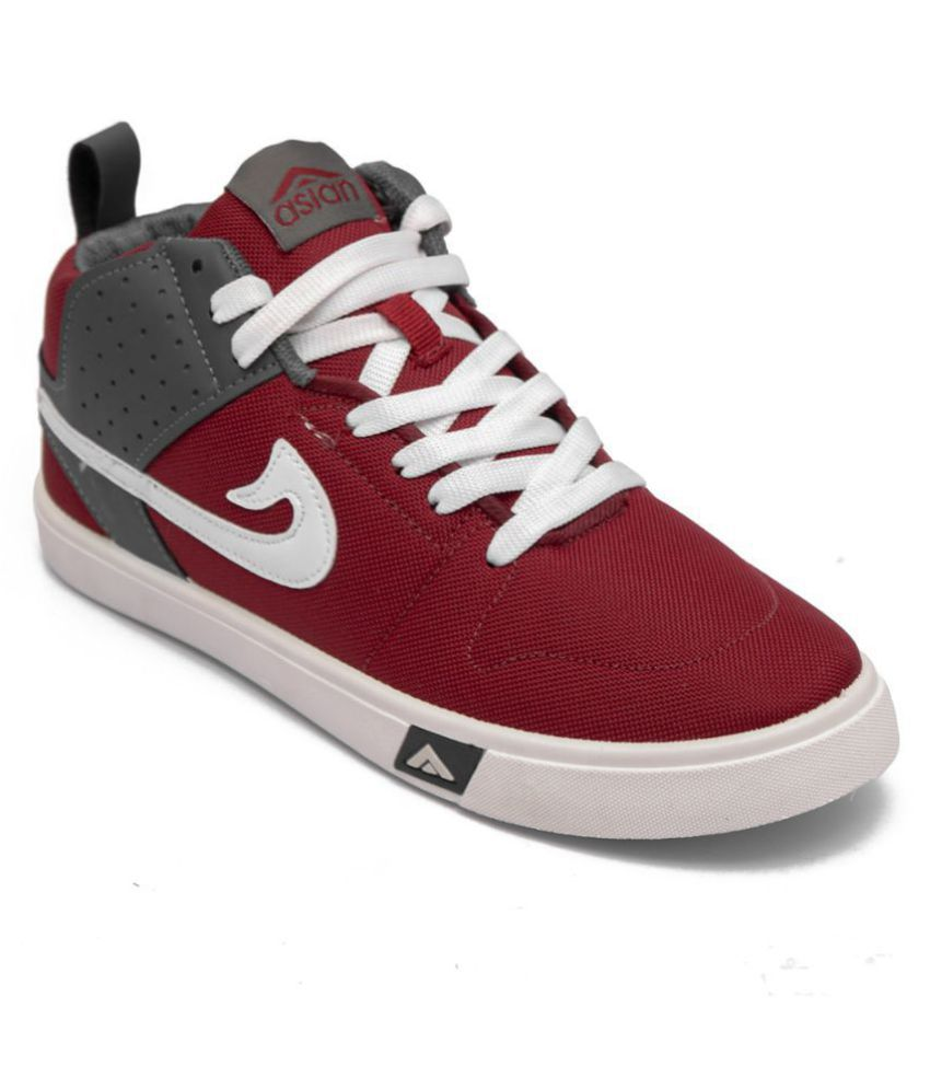 ASIAN Sneakers Maroon Casual Shoes