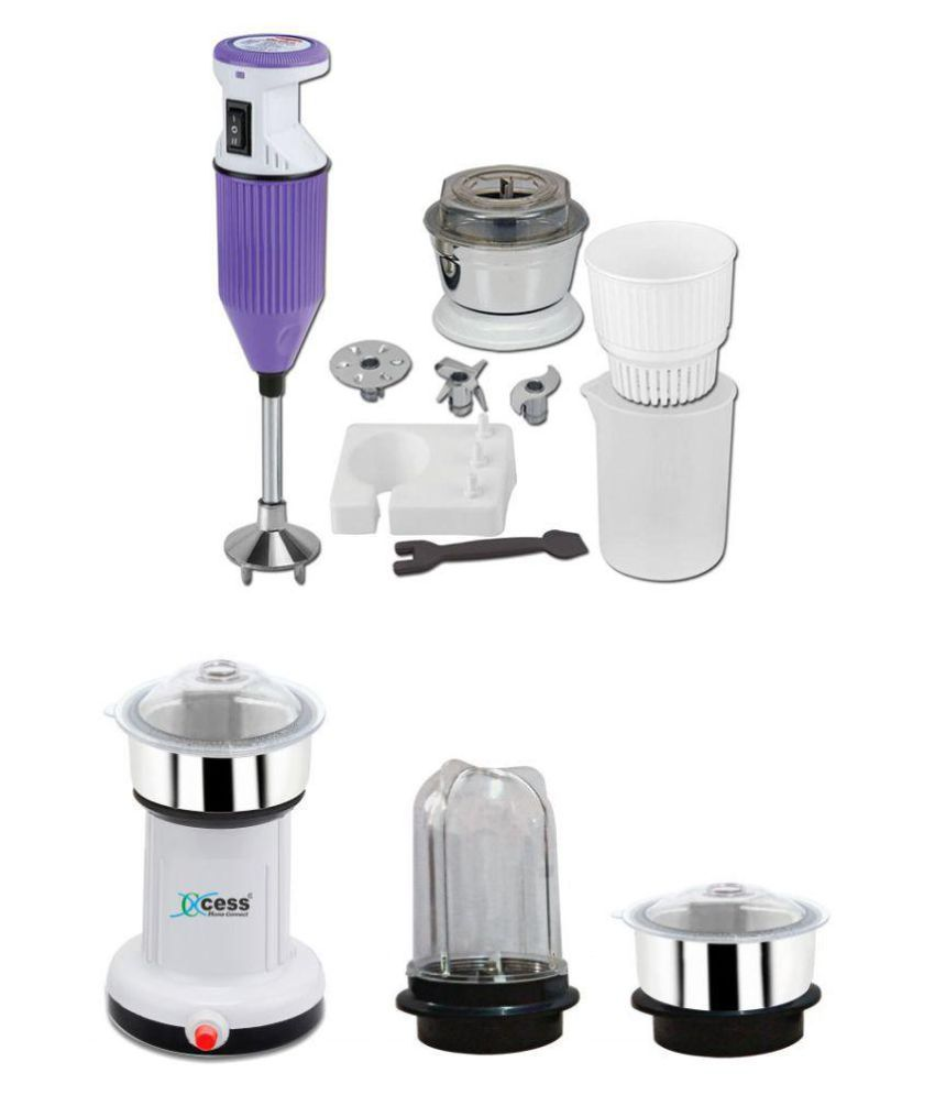 Xccess Mini Mixer Hand Blender 220 Watt 3 Jar Grinder Price