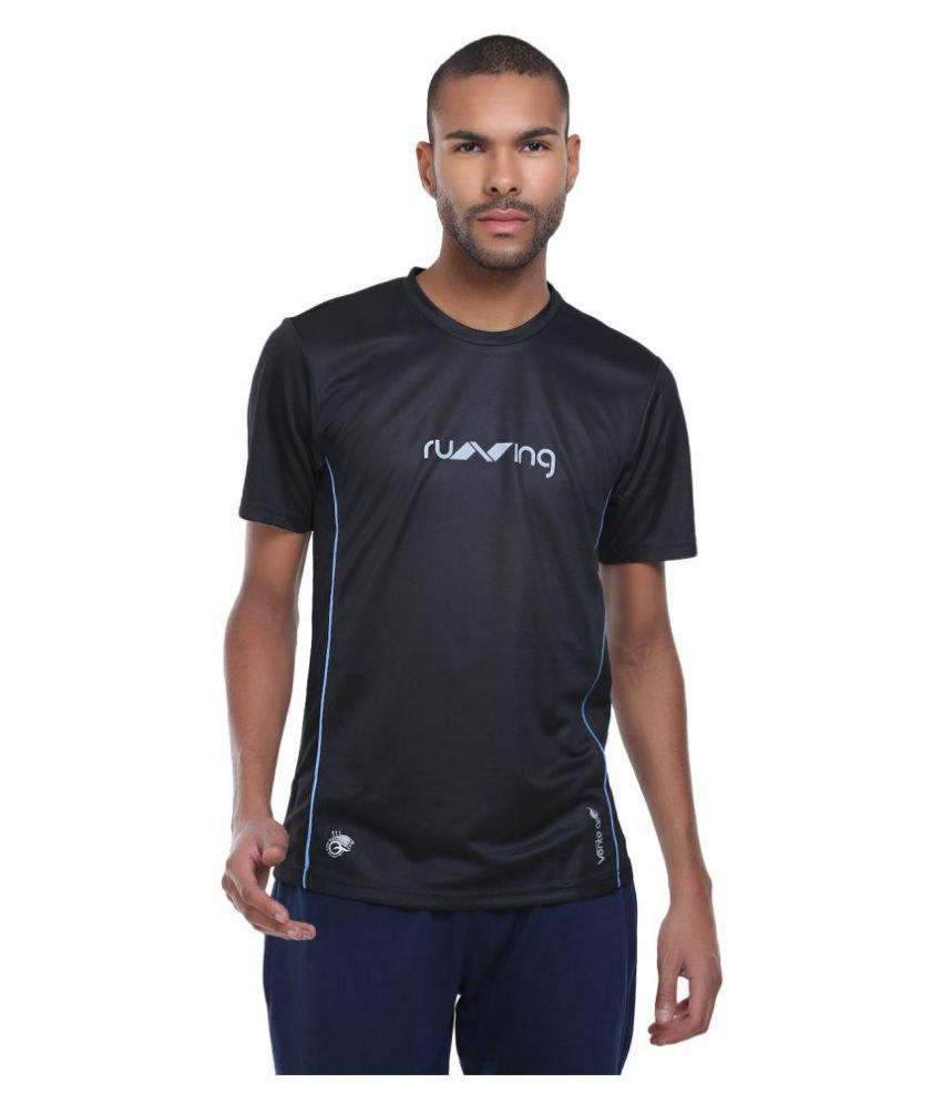 Nivia Oxy 2 Fitness Tee Men Black Blue