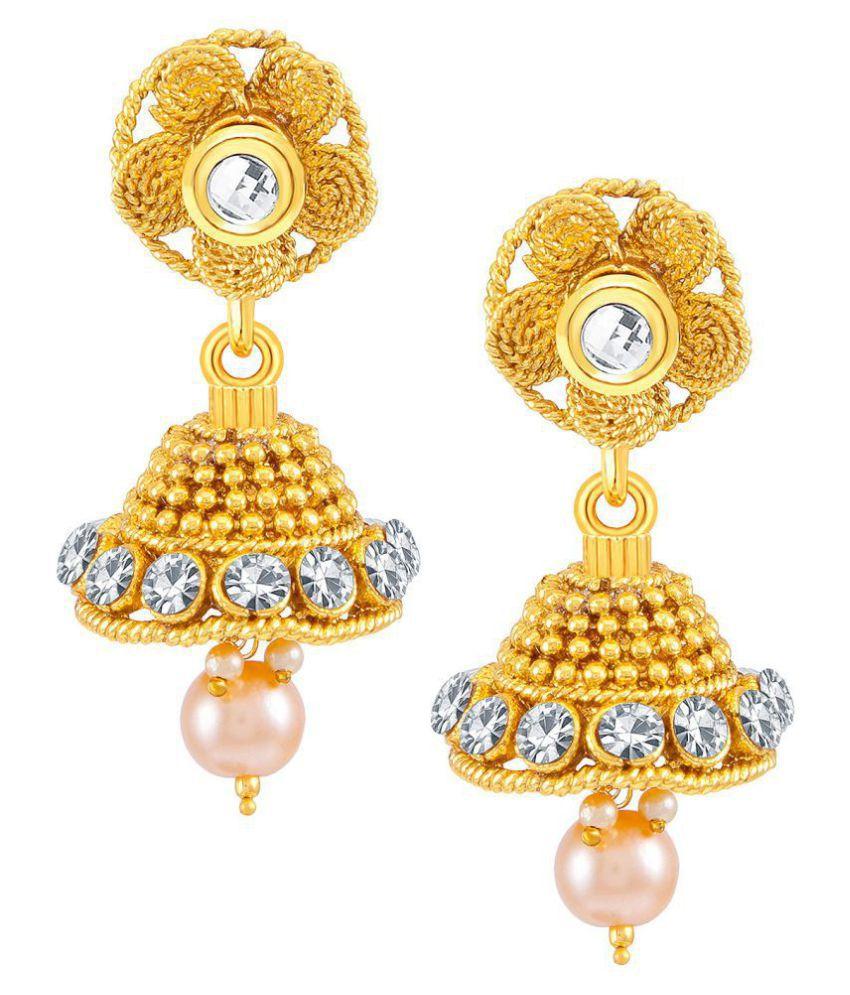 a5125cf85c2b ... Sukkhi Beguiling Jalebi Design 7 String Gold Plated Necklace Set for  women ...