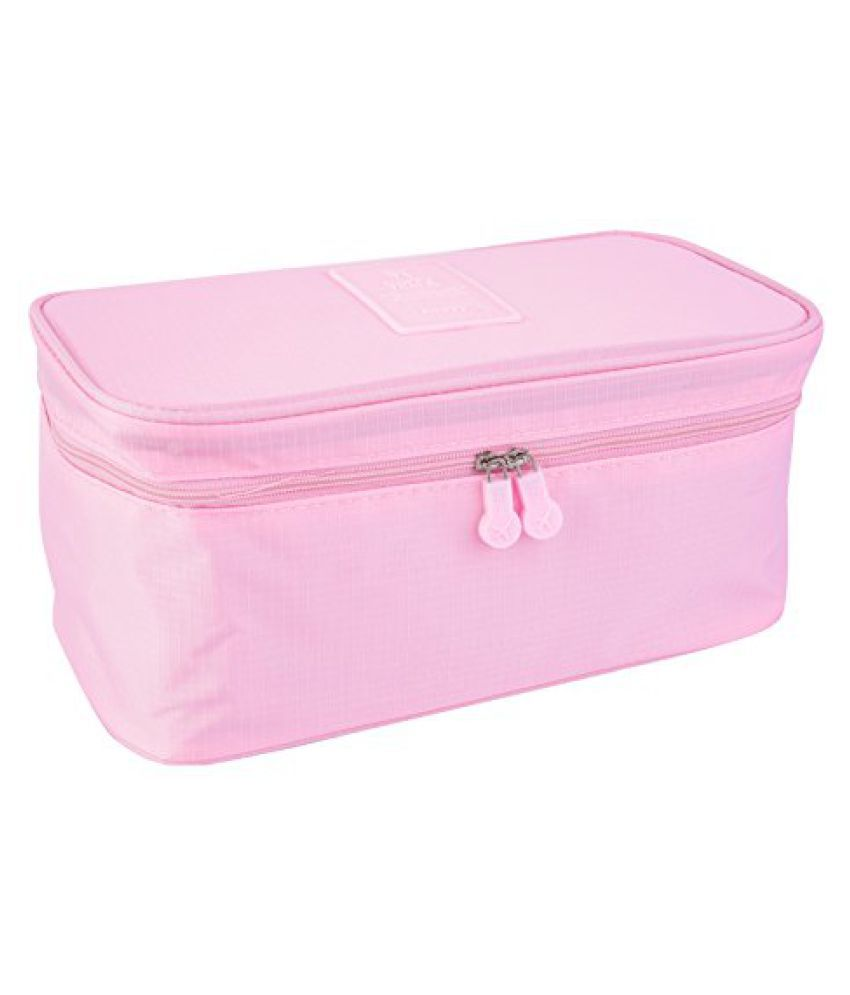 Everbuy Pink Waterproof Lingerie Pouch  Travel Organizer