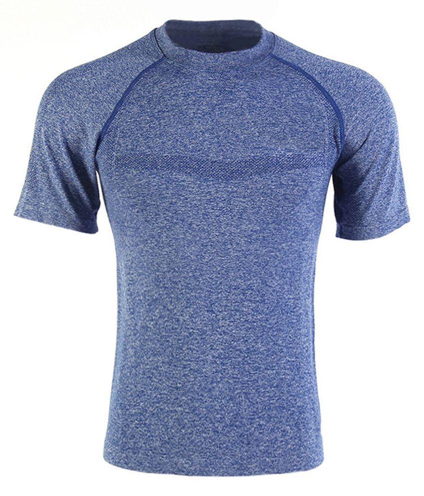 Pearl Fashion Blue Nylon T-Shirt