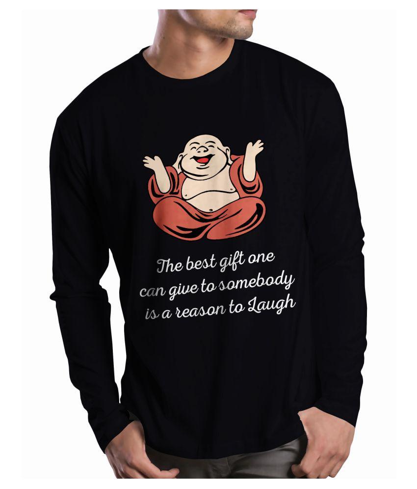 Print Opera Black Round T-Shirt