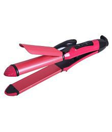 Battlestar Perfect Nova PN-2009 2-In-1 Advanced Hair Straightener cum Hair Styler- ( Pink )