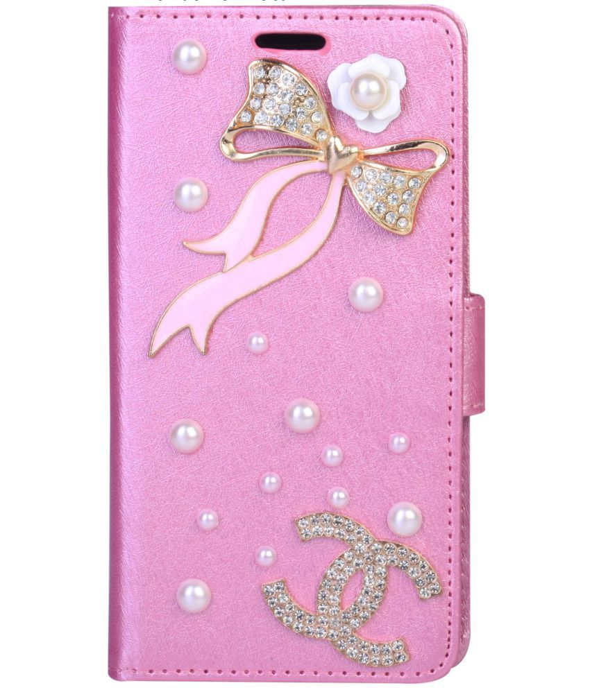 Samsung Galaxy J7 Max Flip Cover by aldine - Pink