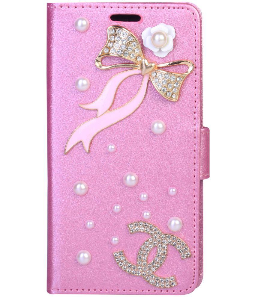 best service b1406 f35c5 Xiaomi Redmi Y1 Flip Cover by aldine - Pink